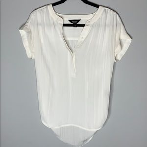 Simply Vera wang white soft pleated blouse xs